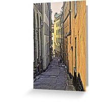 A stroll through Stockholm old town, by Tim Constable Greeting Card