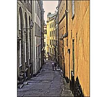 A stroll through Stockholm old town, by Tim Constable Photographic Print