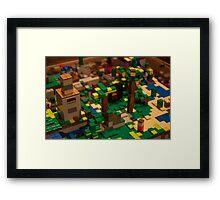 Minecraft Legos Framed Print