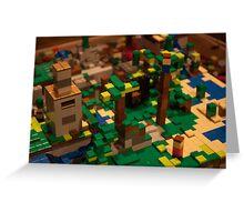 Minecraft Legos Greeting Card