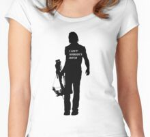 DARYL DIXON - AINT NOBODYS BITCH Women's Fitted Scoop T-Shirt