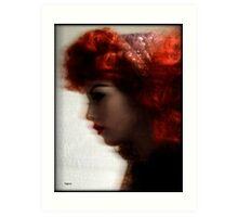 Woman in Still Life  Art Print