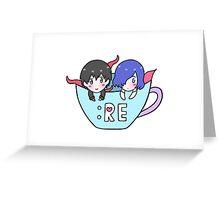 Teacup Touken Greeting Card