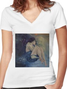 Upon Infinity Women's Fitted V-Neck T-Shirt