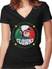 Italian Clownz- 4 Guys With Quarters Women's Fitted V-Neck T-Shirt