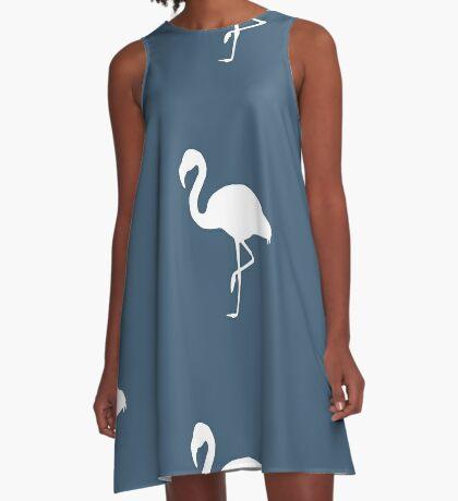 Flamingo Blue A-Line Dress