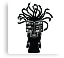 Medusa hairstyle  Canvas Print