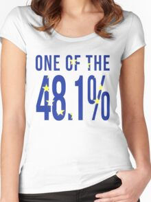 One Of the 48.1% Women's Fitted Scoop T-Shirt