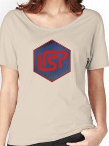 lisp programming language hexagonal hexagon sticker Women's Relaxed Fit T-Shirt