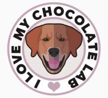 Love My Chocolate Lab Kids Tee