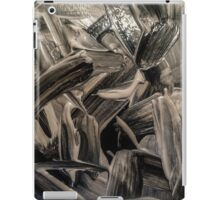 Black and opal paint texture iPad Case/Skin