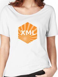 xml programming language hexagonal hexagon sticker Women's Relaxed Fit T-Shirt