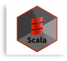 scala programming language hexagonal hexagon sticker Metal Print