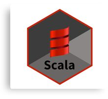 scala programming language hexagonal hexagon sticker Canvas Print