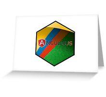 angularjs programming language hexagonal hexagon sticker Greeting Card