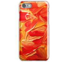 Gold, red and yellow paint texture  iPhone Case/Skin