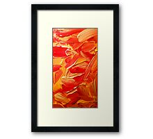 Gold, red and yellow paint texture  Framed Print