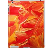 Gold, red and yellow paint texture  iPad Case/Skin