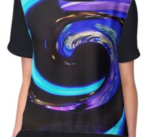 Swirling colors,  turquoise (türkis) Chiffon Top