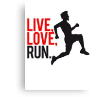 Sports saying man live love run Canvas Print