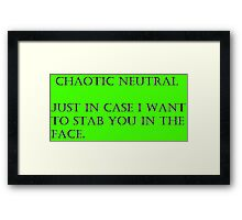 Chaotic Neutral Framed Print