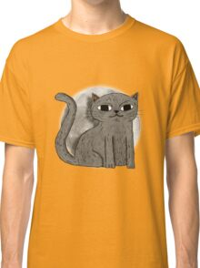 Cute Cat with Moon Classic T-Shirt