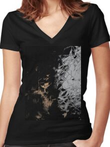 Crystals vertical Women's Fitted V-Neck T-Shirt