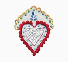 Portugal Embroidery Heart Unisex T-Shirt