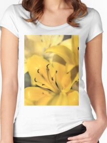 Bright Yellow Women's Fitted Scoop T-Shirt