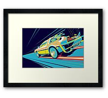 DeLorean- Back to the Future Framed Print