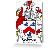 Cochrane Coat of Arms / Cochrane Family Crest Greeting Card