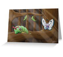 Metamorphosis - Caterpie > Metapod > Butterfree  Greeting Card