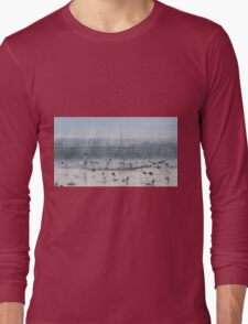 Myanmar, Shan state, Inle lake, fishermen fishing by traditional fishing techniques at dusk  Long Sleeve T-Shirt