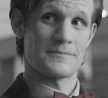 Eleventh Doctor's Bow Tie 2 Black and White by Themaninthefez