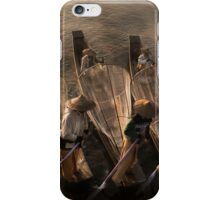 Myanmar, Shan state, Inle lake, fishermen fishing by traditional fishing techniques at dusk  iPhone Case/Skin