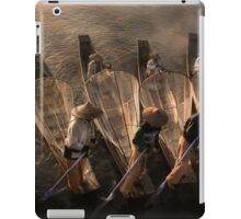 Myanmar, Shan state, Inle lake, fishermen fishing by traditional fishing techniques at dusk  iPad Case/Skin