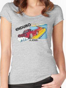 ATARI ENDURO RACING CARTRIDGE LABEL Women's Fitted Scoop T-Shirt