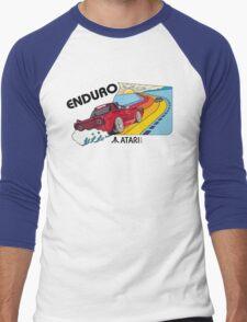 ATARI ENDURO RACING CARTRIDGE LABEL Men's Baseball ¾ T-Shirt