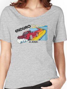 ATARI ENDURO RACING CARTRIDGE LABEL Women's Relaxed Fit T-Shirt