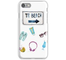 To Beach Summer  iPhone Case/Skin