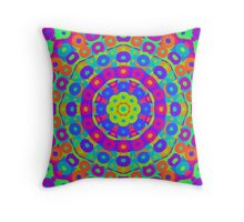 Psychedelic kaleidoscope 3 Throw Pillow