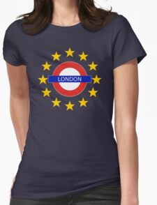 London Shall Remain - (with funky over-sized stars) Womens Fitted T-Shirt