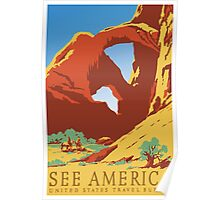 Vintage Travel Poster - See America Poster