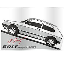 VW Golf by Giugiaro Poster