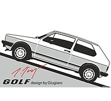 VW Golf by Giugiaro Photographic Print