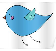 Bluebird of Happiness Flying Poster