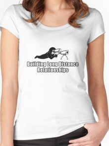 Building Long Distance Relationships Women's Fitted Scoop T-Shirt