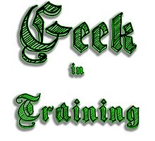 Geek in Training Photographic Print