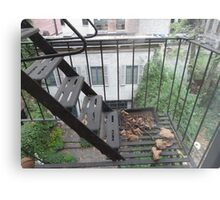 New York Apartment View Metal Print