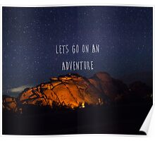 Lets Go On an Adventure Poster